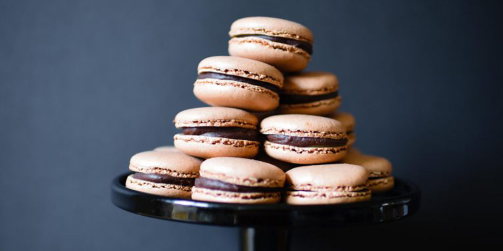 Chocolate and Salted Caramel Macaron