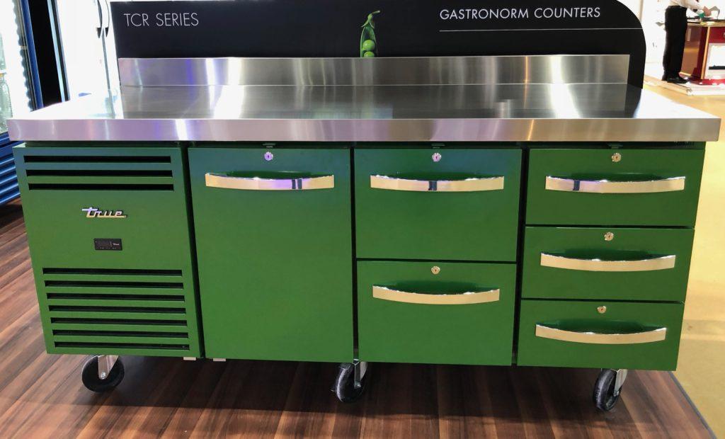 Configured TCR counter fridge