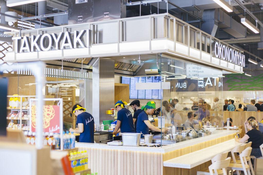 Open kitchen at Ichiba London