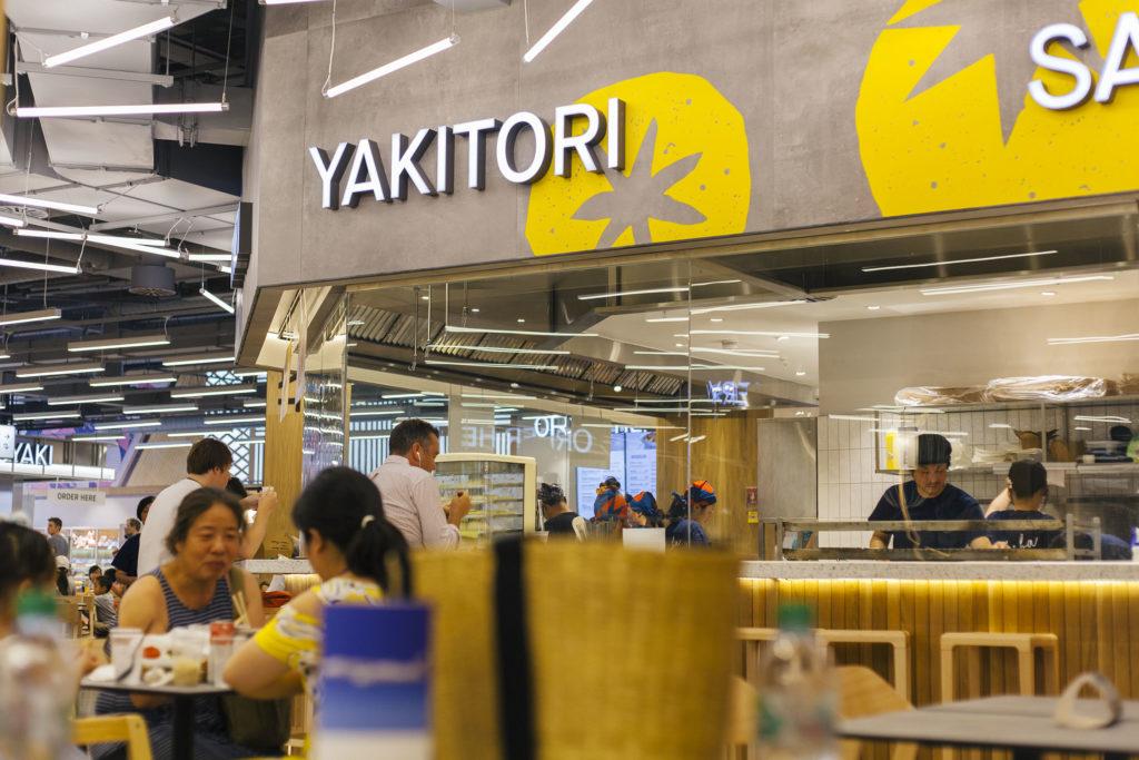 yakitori station in japanese restaurant